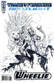 Transformers Spotlight Wheelie Retail Incentive RI Sketch Variant Cover (2008) IDW comic book